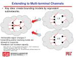 extending to multi terminal channels