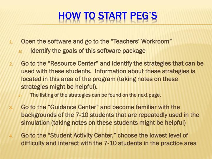 "Open the software and go to the ""Teachers' Workroom"""