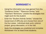 worksheet 4