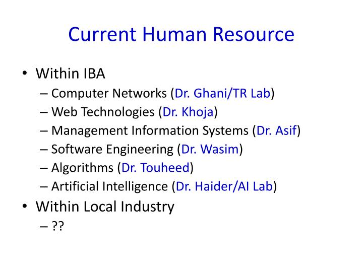 Current Human Resource