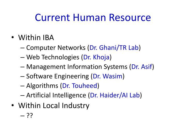 Current Human Resource
