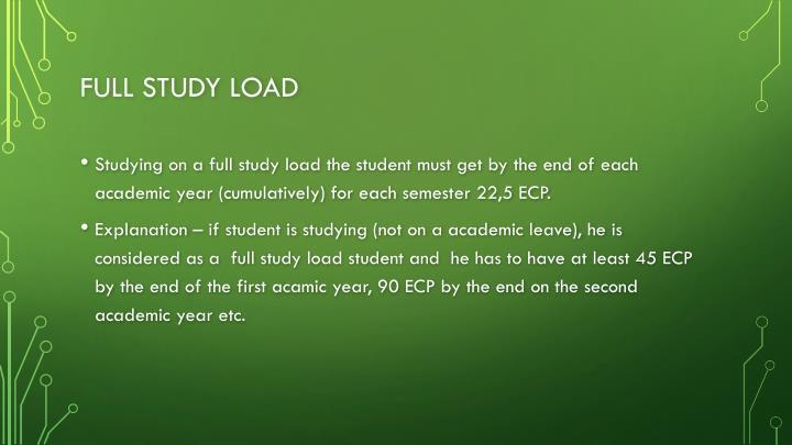 Full study load