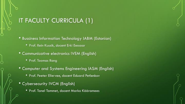 IT faculty curricula (1)