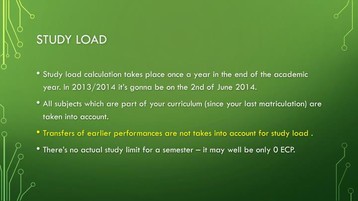 Study load