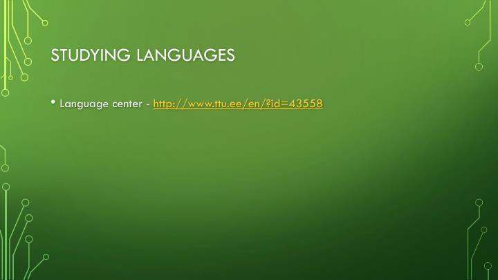 Studying languages