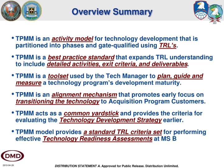 Overview Summary
