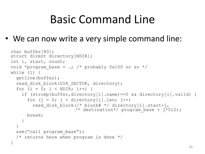Basic Command Line