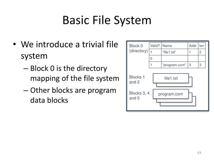 Basic File System