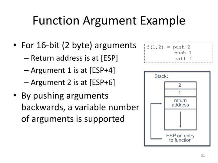 Function Argument Example