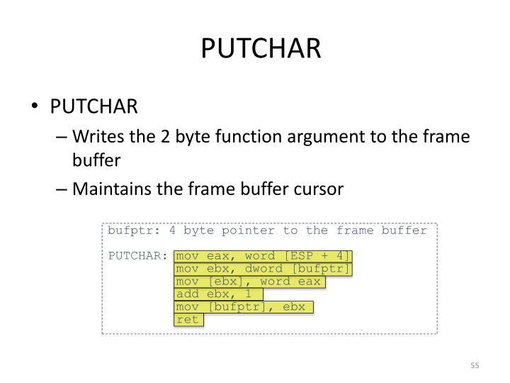 PUTCHAR