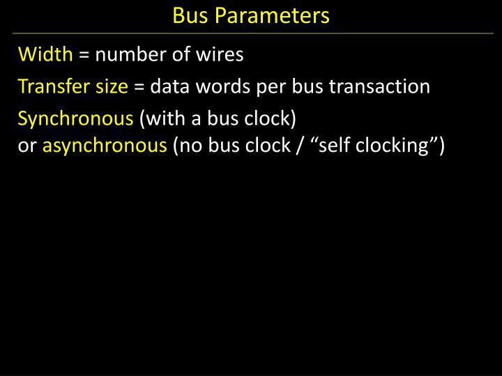Bus Parameters