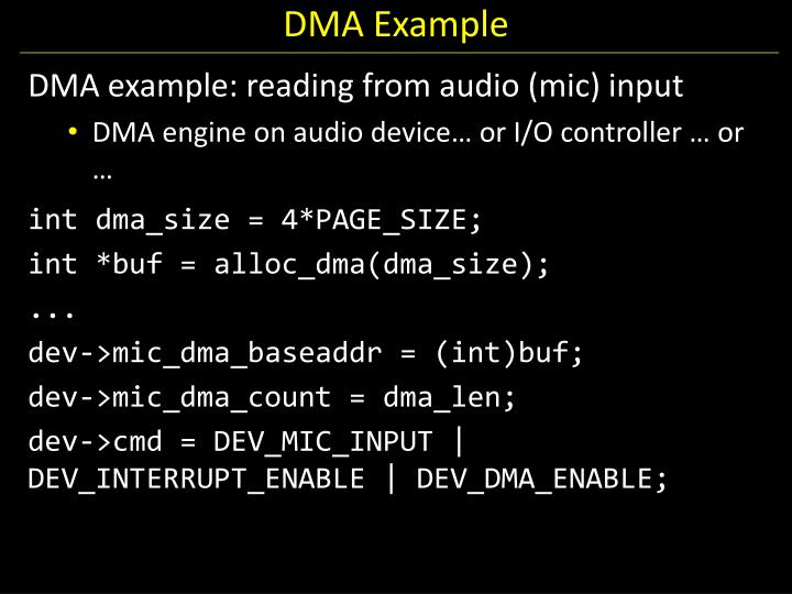 DMA Example