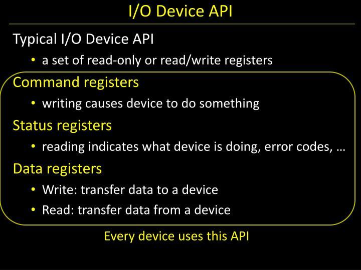 I/O Device API
