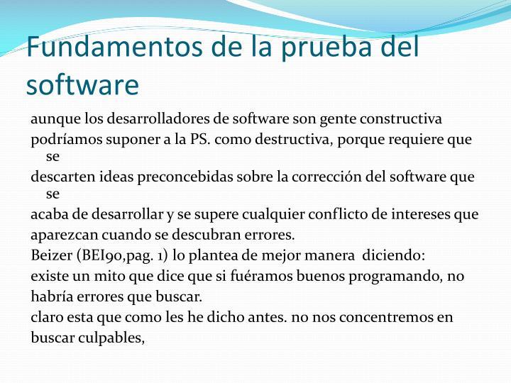 Fundamentos de la prueba del software
