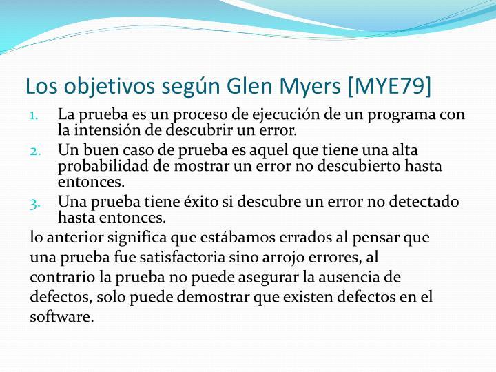 Los objetivos según Glen Myers [MYE79]