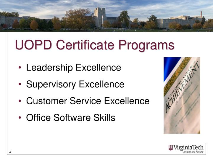 UOPD Certificate Programs
