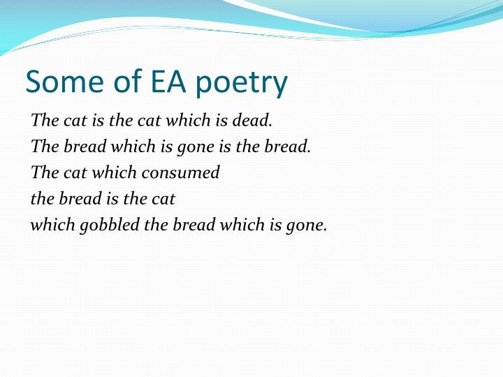 Some of EA poetry