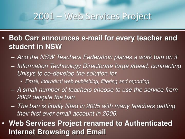 2001 – Web Services Project