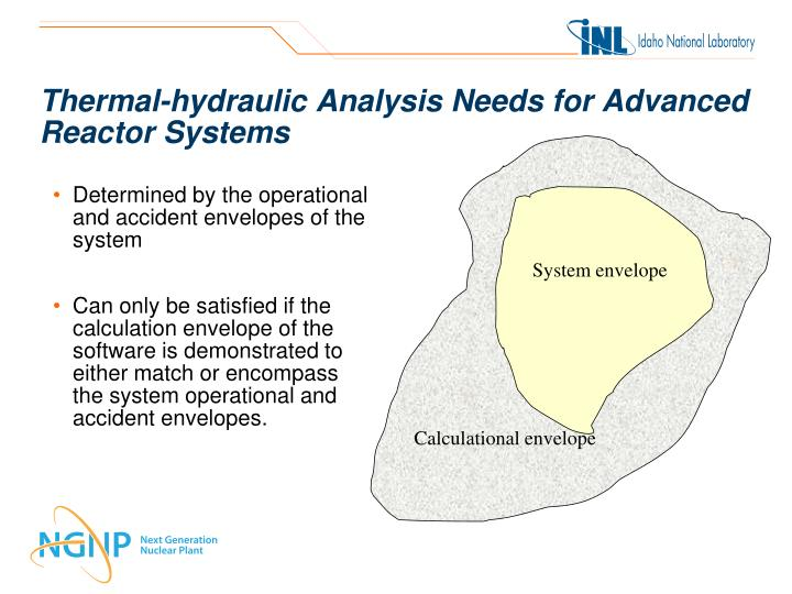 Thermal-hydraulic Analysis Needs for Advanced Reactor Systems