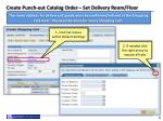 create punch out catalog order set delivery room floor