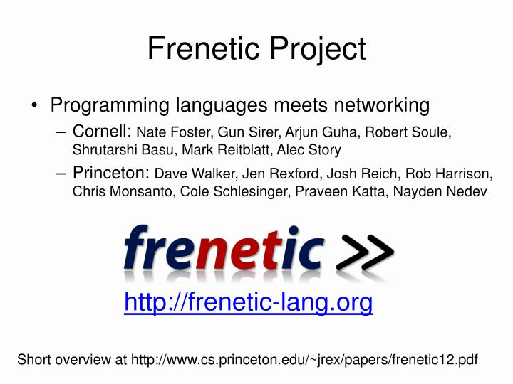 Frenetic Project