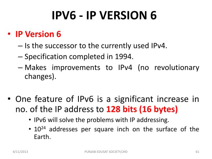 IPV6 - IP VERSION 6