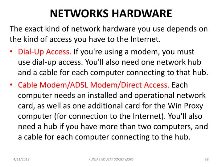 NETWORKS HARDWARE