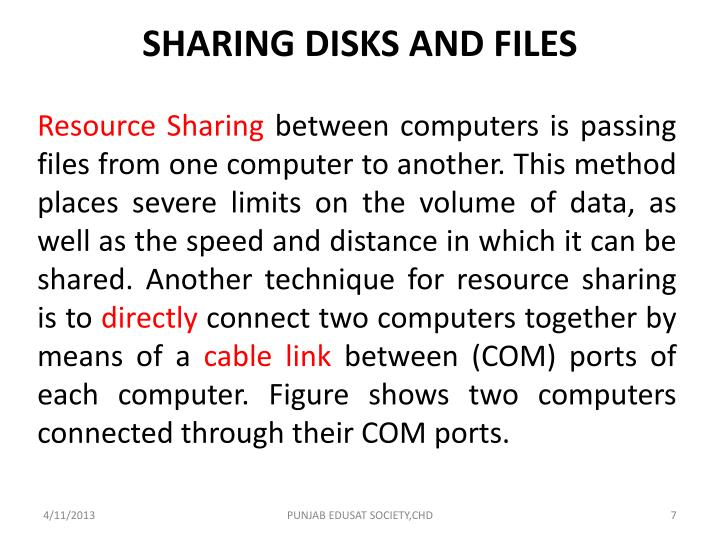 SHARING DISKS AND FILES