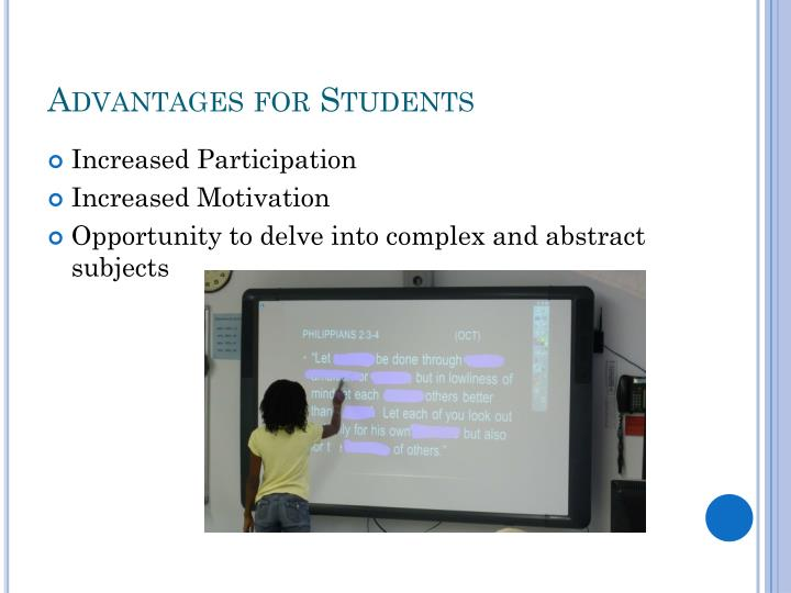 Advantages for Students