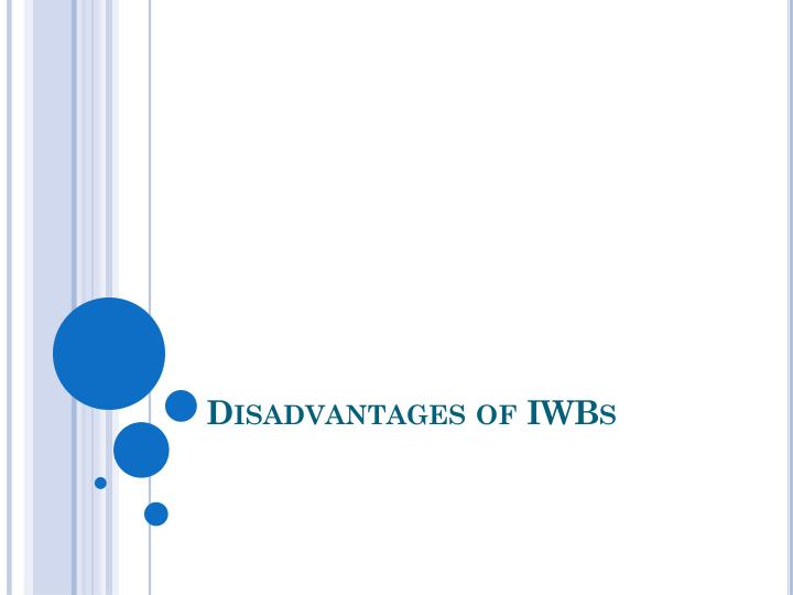 Disadvantages of IWBs
