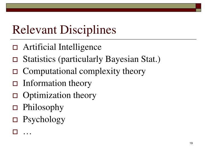 Relevant Disciplines
