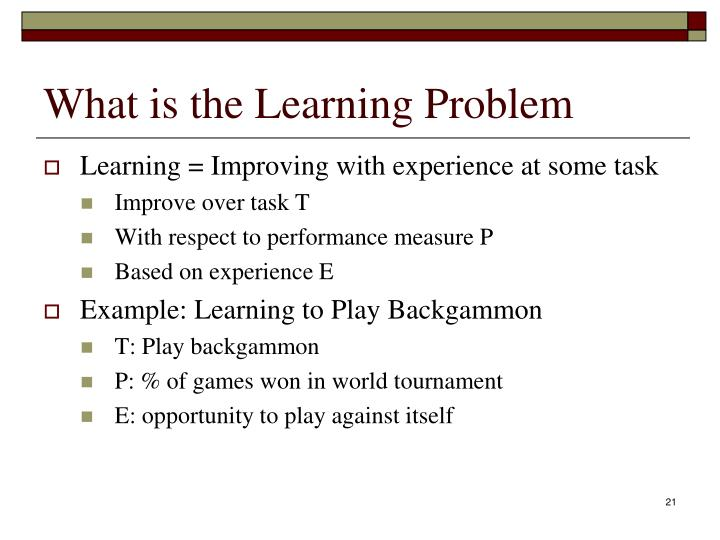 What is the Learning Problem