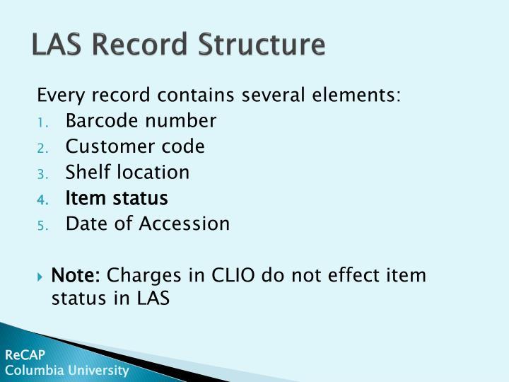 LAS Record Structure