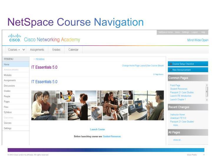 NetSpace Course Navigation