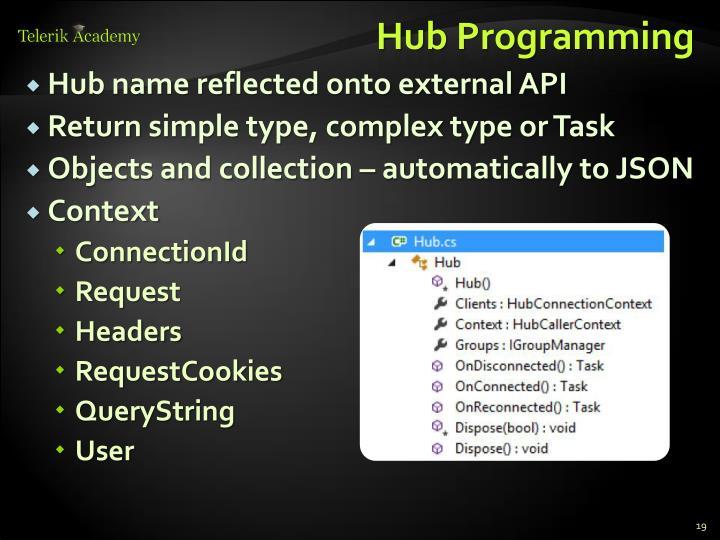Hub Programming