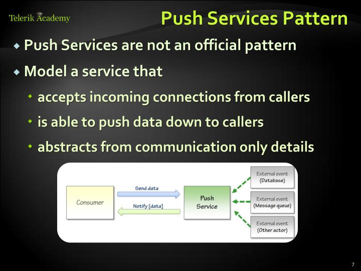 Push Services Pattern