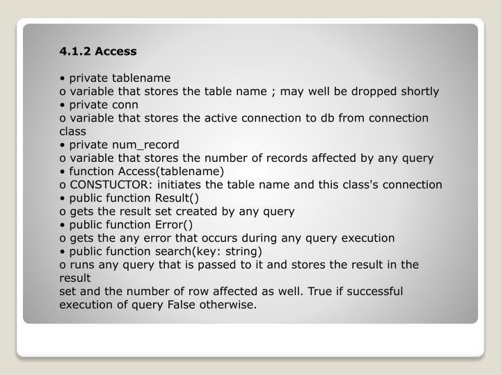 4.1.2 Access