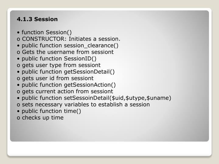 4.1.3 Session