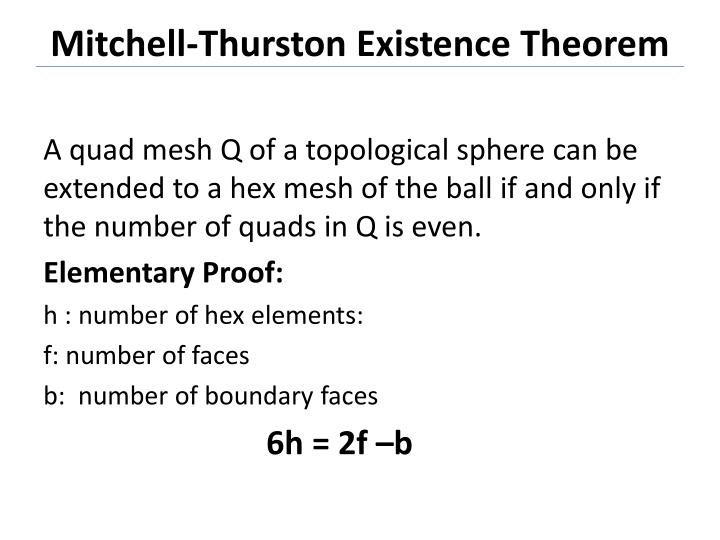 Mitchell-Thurston Existence Theorem