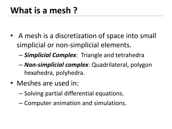 What is a mesh ?