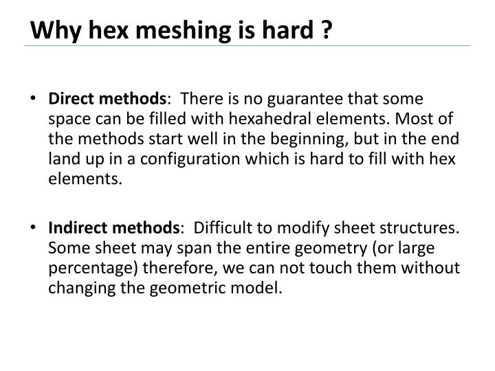Why hex meshing is hard ?