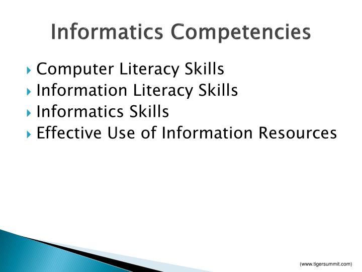 Informatics Competencies