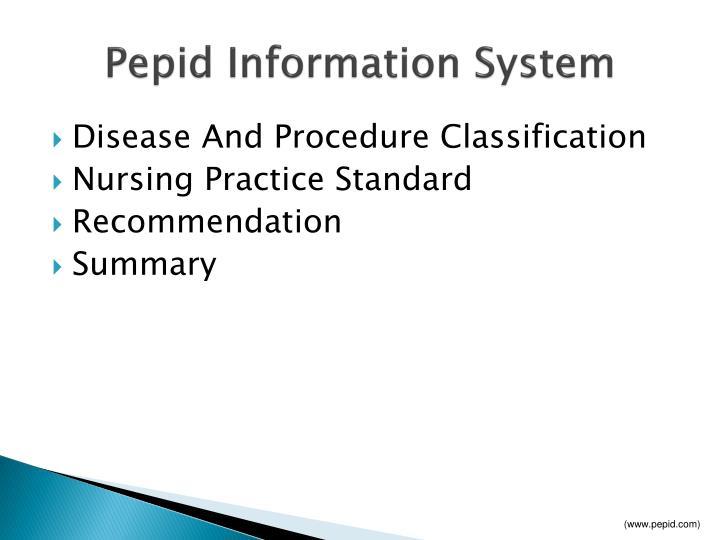 Pepid Information System