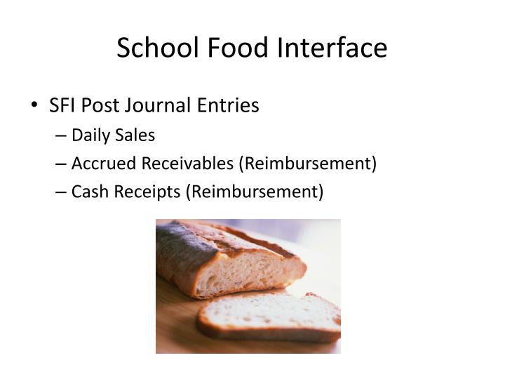 School Food Interface