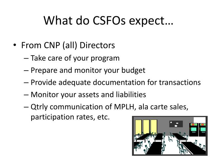 What do CSFOs expect…