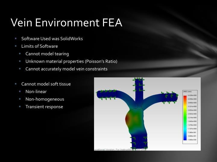 Vein Environment FEA