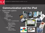 communication and the ipad3