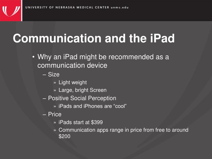 Communication and the iPad