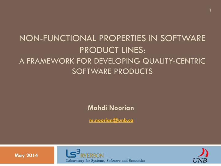 Non-Functional Properties in Software Product Lines: