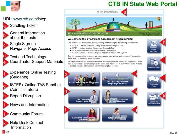 CTB IN State Web Portal